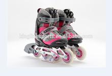 inline skate roller skates on hot sale adjuatable blue & pink & red kids skates shoes JD119
