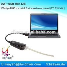 Driver free mini rj45 lan ethernet usb 2.0 network adapter