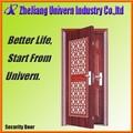 diseño de puerta de hierro de madera