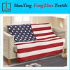 high quality mink cashmere and sherpa blanket USA Flag fleece wool blanket