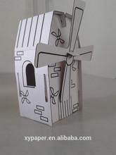 Diy kid Small Paper cardboard house