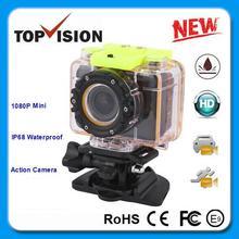 CE FCC Certificate IP68 Waterproof Full Hd 1080P Mini Dvr Sport Camera