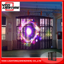 P7/9/12 mm curved mesh screen/stage rental display screen/LED Curtain wall
