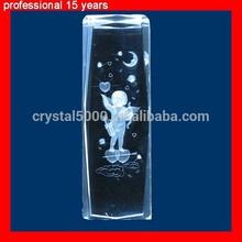 Angel Cupid crystal cube 3D laser gift