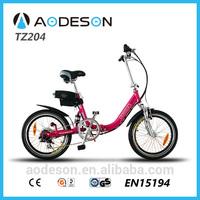"20"" aluminium alloy frame pocket e bike/lithium battery electric bike/mini folding electric bike TZ204 for girls"