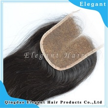New style Christmas Two parts bleacked knots lace closure