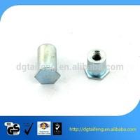 zinc plated M6 hex blind rivet nut