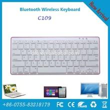 Best selling White Mini Bluetooth Keyboard, wireless bluetooth keyboard compatible with Apple MAC