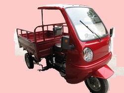 cargo 3 wheel motorcycle with driver cabin