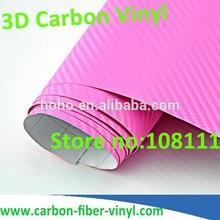 1.52*30m 3D carbon fiber car beauty vinyl wrap pink air bubble free
