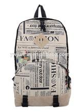 China factory designer unisex pu backpack fashion printing magazine backpack school bags