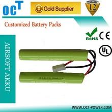 NiMH 2/3A 9.6V 8x1500mah nunchuck battery pack for airsoft gun