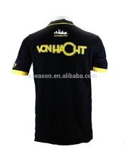 Short sleeve yellow and black polo jacket polo shirt with pocket