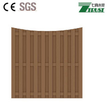 Plastic wood fence garden panel with cheap price