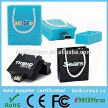 2G/4G/8G/16G custom PVC shopping bag usb flash drive /USB promotion gifts