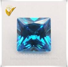 china cz supplier aquamarine square cz jewelry