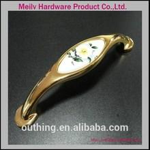 Fancy custom hot sales Zinc ceramic porcelain cabinet handle V