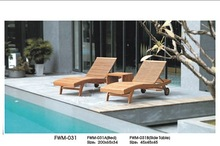 Outdoor garden courtyard lounge boat wood furniture indonesia FWM-031