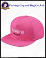 2015 100% de acrílico en 3d bordado plano snapback visor cap