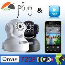 P2P HD 720P Network IR Securiy CCTV WIFI IP camera, 3.6mm lens and Power Supply