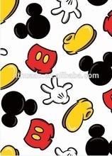 Carton design non-toxic pvc printed table cloths for kids