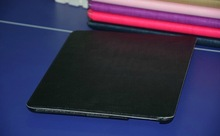 New Arrival Fashion Tri-folded Lichee PU Leather Cases Stand Cover for Apple iPad Air