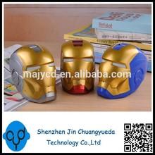 Cartoon Iron Man Speaker mp3 Player Mini Card Small Audio U-disk/FM
