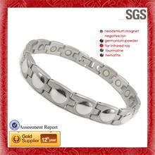 Fashion unisex deep carved shiny power body bracelet silicone