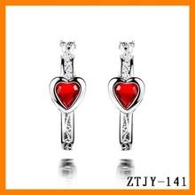 fashion jewelry heart shape ruby engagement ring ZTJY-141