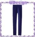 Escuro azul marinho de lã calças das senhoras calças de lã polar ginásio calças de lã