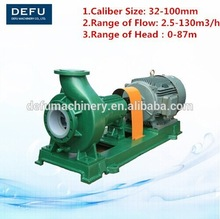 IHF Fluorine plastic lined waste water pump\Iron and steel industry