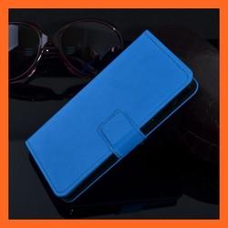 Blue F60 Smartphone PU Leather Folio Case Cover For LG F60