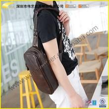 Lastest New Arrive Stylish Cheap Brand Fashional Leather Shoulder Bag Men For Custom Design Shoulder Strap Bag