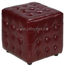 Wooden Stool Rustic Cube Stool