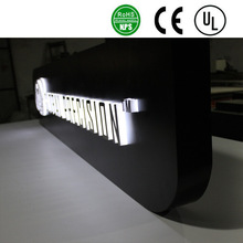 custome advertising backlit stainless steel LED letter sign and 3d sign letters