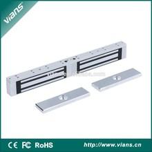 1200lbs electric double exterior sliding doors mag lock