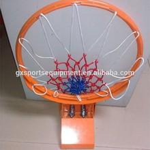 Elastic breakaway basket hoop