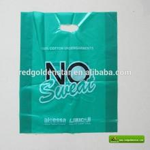 ldpe plastic die cut bag, patch handle bag