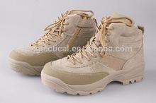 """ประเทศสหรัฐอเมริกากองทัพบุรุษ8"""" รองเท้าทะเลทรายสีน้ำตาลรองเท้ากองทัพตำรวจ"""