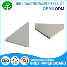 Top quality recycled Laminated Solid Cardboard/ Stiff Grey Card Board for book cover