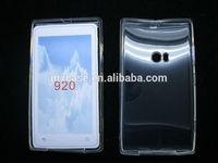 Soft glossy transparent TPU cell phone case for Nokia Lumia 920