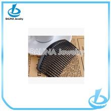 Wholesale fashion simple design black plastic hairpin spring