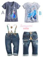 kids character clothing wholesale frozen princess elsa costume girls shirt and pants