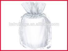 red basket stuffers organza bag with ribbon drawstring