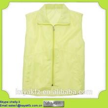 Wholesale cheap polyester promotional plain vest maker