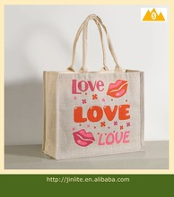 2014 hot sale plain simple shopping bag jute tote bag