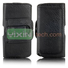 Black Belt Clip Magnetic Pouch Flip Leather Holster Case for iPhone 5 5s