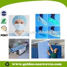 100%polypropylene tnt fabric, medical textile nonwoven ,white and blue nonwoven