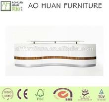 New design spray lacquer salon reception desk furniture