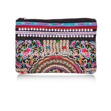 Wholesale women genuine leather handbag embroidery mini ipad bag